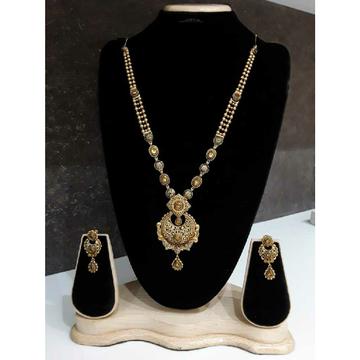 22KT Jadtar Antique Long Gold Necklace Set