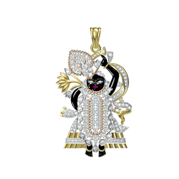 750 Diamond God Locket by