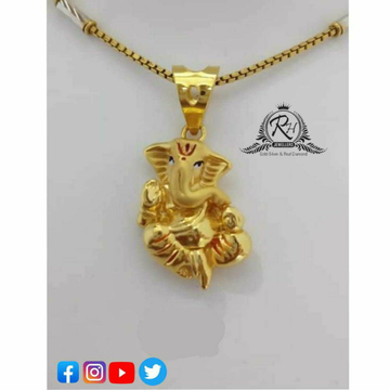 22 Carat Gold Ganesh Pendants Chain RH-PC488
