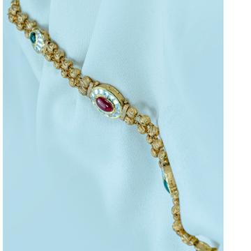 916 Gold Colorful Stone Bracelet LB-579  by