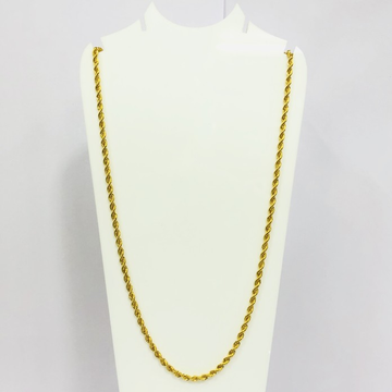 22kt, 916 Hall-Marked, Yellow Gold hollow rope Chain JKC023