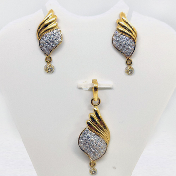 916 Gold CZ Pendant Set SK-PS008 by
