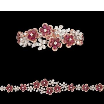Diamonds and Ruby BraceletJSJ0148