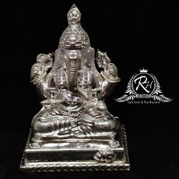 999 silver lord ganesh murti RH-MT463