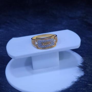 22KT/916 Yellow Gold Audi Sparklie Ring For Men