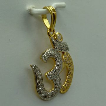 22k Exclusive om pendant by Shree Sumangal Jewellers