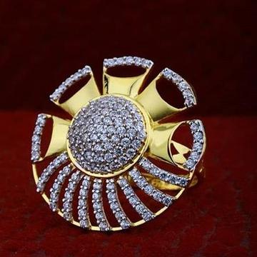 22Kt Gold ladies party wear ring RH-gR045