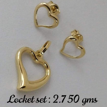 916 GOLD HEART PENDANT SET by