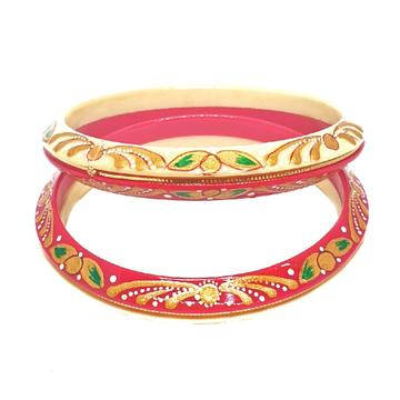 22k gold designer printed chudli bangles mga - cdg0030