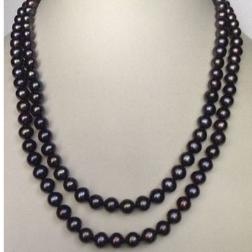 Freshwater Black Potato Pearls Long Knotted Mala