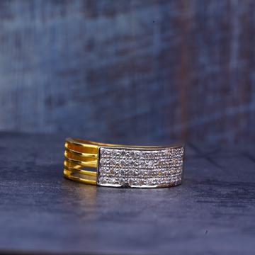 Mens Gold Cz Ring-MR438