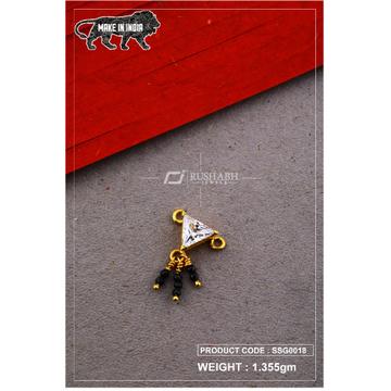 22 Carat 916 Gold Ladies singal stone msp smg0018
