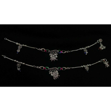Silver Natural Indian Designer Anklet