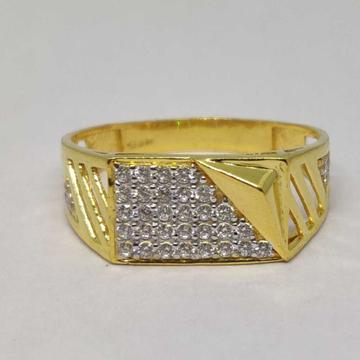 22k Gents Fancy Gold Ring Gr-28592