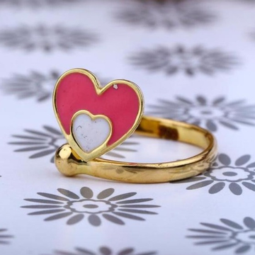 22kt Gold Heart Desgin Bacha Ring RH-BR05