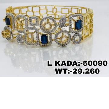 916 Gold Handmade Ladies Kada Brasclet RH-LB025