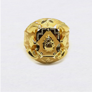 Ganesha Design Nazrana Gold Ring
