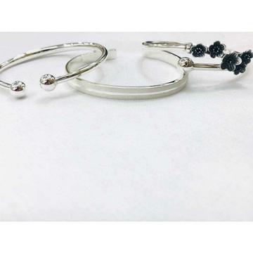 999 Sterling Silver Boll Oxodize Flower Dull Bracelet Ms-2808