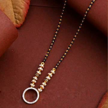 22KT/ 916 Gold Fancy Round pendant mangalsutra for... by