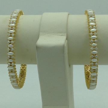 Freshwater White Button Pearls Bangles JBG0285