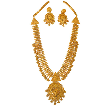 1 gram gold forming necklace set mga - gfn0034
