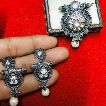 925 Starling Silver Oxodise Chain Pendal Set RH-925CP006