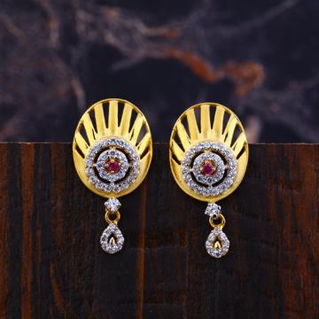 Ladies 22K Gold Earrings-LFE133