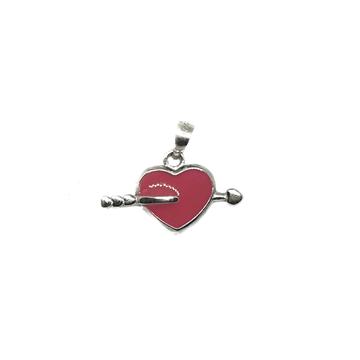 925 Sterling Silver Heart Shape Pendant MGA - PDS0026