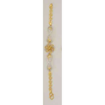 22K / 916 Gold Flowe Ladies CZ Lucky  by