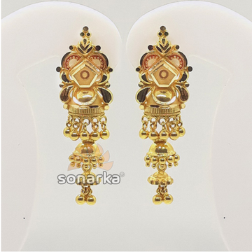 916 Gold Designer Latkan Buti With Ghughri