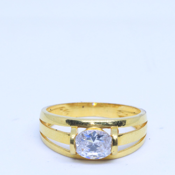 22KT / 916 Gold Solitaire Diamond Engagement  ring For Men GRG0122