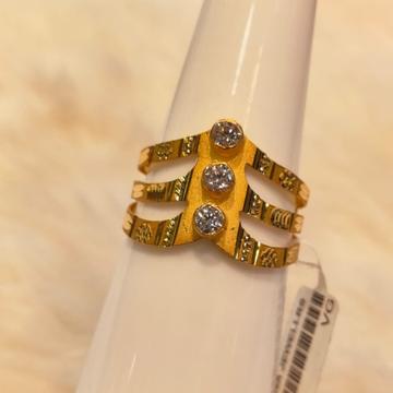 22KT Gold Hallmark Diamond Ring by Panna Jewellers