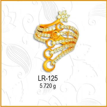 22KT Gold Designer CZ Diamond Ladies Ring LR-125