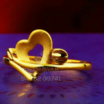 916 Heart Shape Plain Casting Ladies Ring LRG -0570