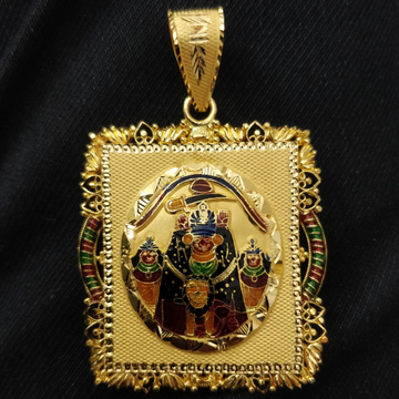 916 Gold Gent's Fancy Goddess Pendant