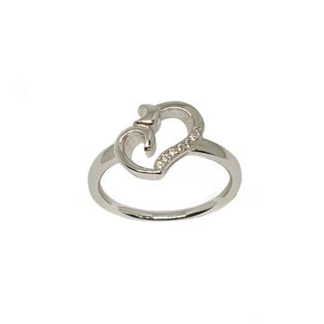 925 Sterling Silver Heart Shape Ring MGA - LRS3456