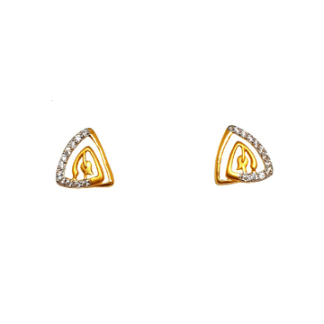 22K Gold Triangle Shape Designer Earrings MGA - BTG0489