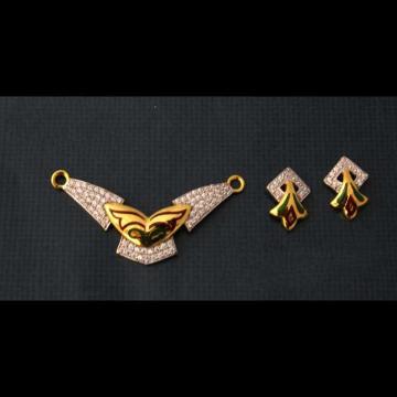 22 K Gold Fancy Pendant Set. nj-p01184