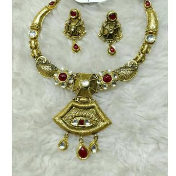 22K / 916 Gold Antique Jadtar Charming Necklace Set