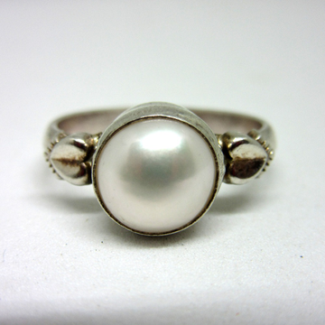 Silver 925 pearl ring sr925-213