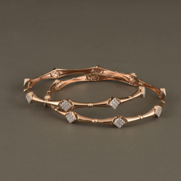 18KT Rose  Gold  Toned Trump Bangles  For Women