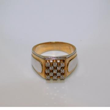 18K gold diamond ring agj-gr-213