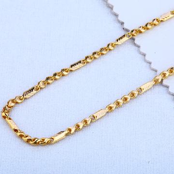 916 Gold Hallmark Designer Choco Chain MCH77