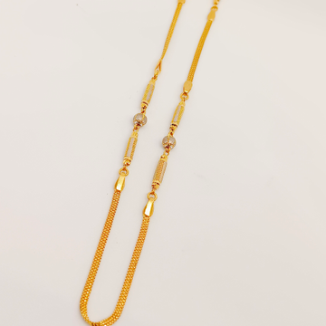 916 Gold Fancy Chain by Ghunghru Jewellers