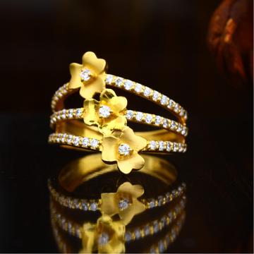 22KT Gold Flower Design Hallmark Ring