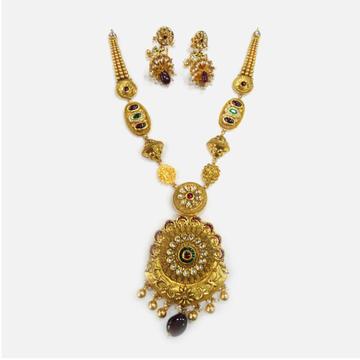 916 Gold Antique Long Necklace Set RHJ-0015
