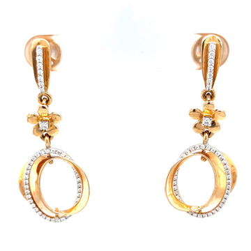 Étonnante dangling earrings with centre piece flower 8top123
