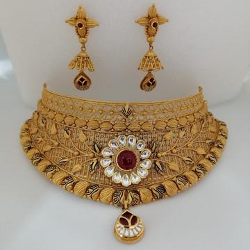 916 gold chokkar leaf collection antique set by Vinayak Gold