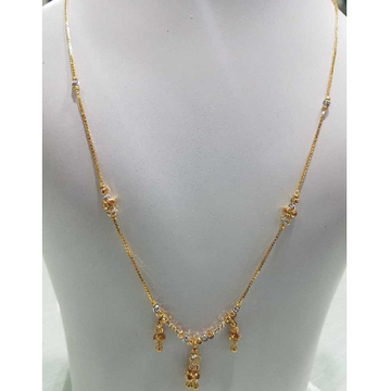 916 Gold Indian Ladies Moti Necklace by H. V. Jewels