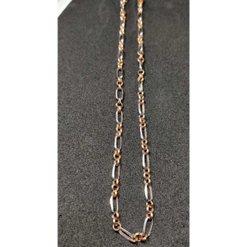 18k Gents Fancy Rose Gold Chain G-7117